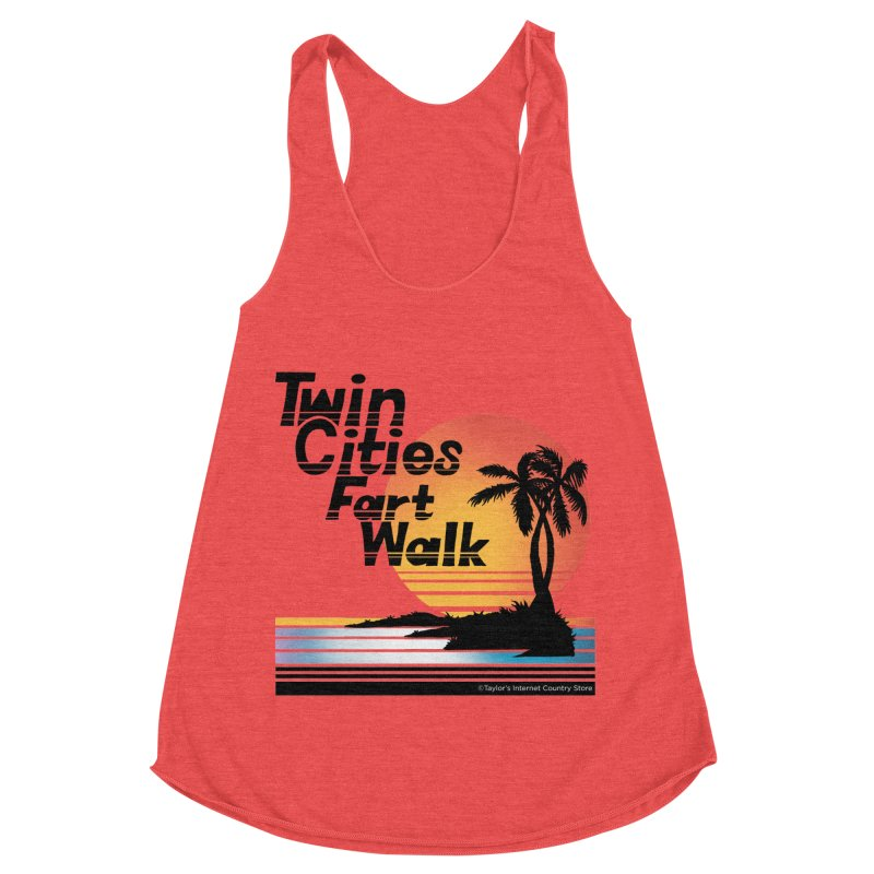 Twin Cities Fart Walk Women's Racerback Triblend Tank by Taylor's Internet Country Store