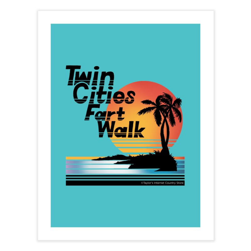 Twin Cities Fart Walk Home Fine Art Print by Taylor's Internet Country Store