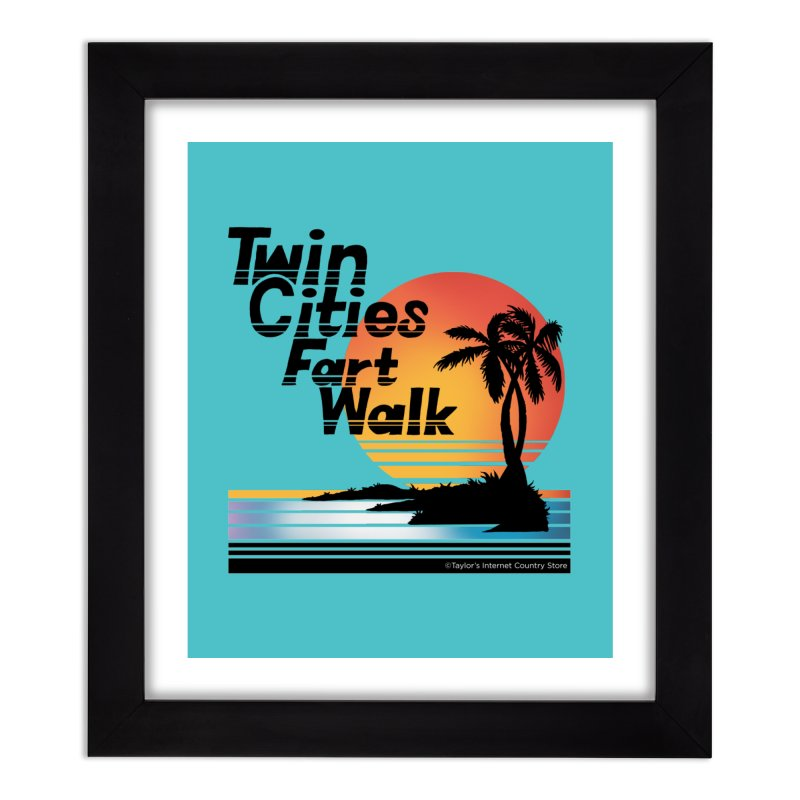 Twin Cities Fart Walk Home Framed Fine Art Print by Taylor's Internet Country Store