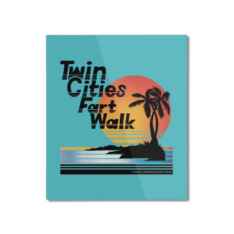 Twin Cities Fart Walk Home Mounted Aluminum Print by Taylor's Internet Country Store