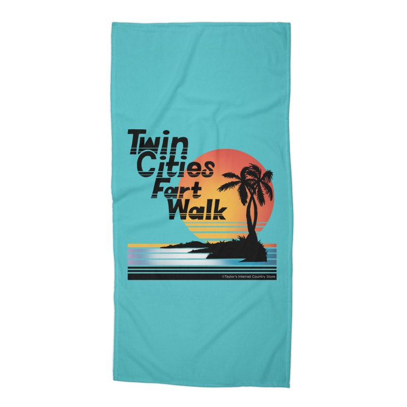 Twin Cities Fart Walk Accessories Beach Towel by Taylor's Internet Country Store