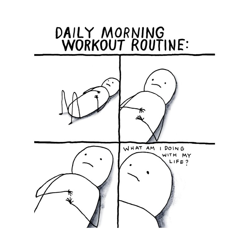 Daily Morning Workout Routine Home Fine Art Print by Taylor's Internet Country Store