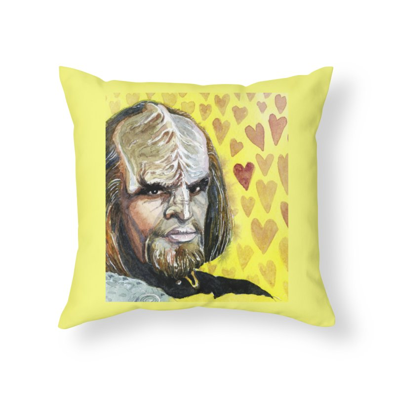 Love Worf Home Throw Pillow by Taylor's Internet Country Store