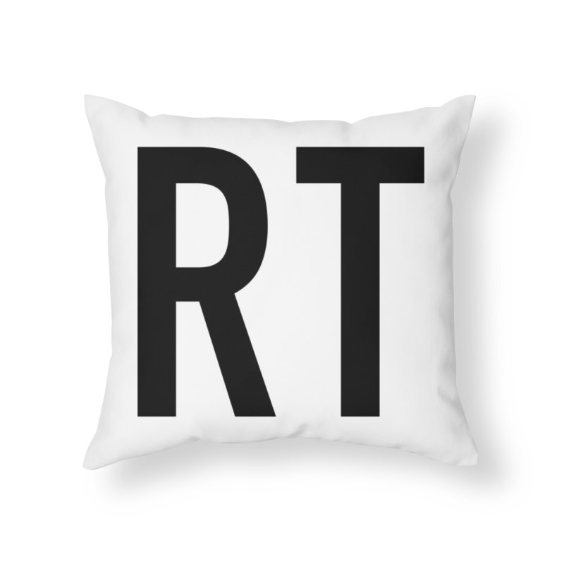 Fart Pillow Black Letters (second half of set) Home Throw Pillow by Taylor's Internet Country Store