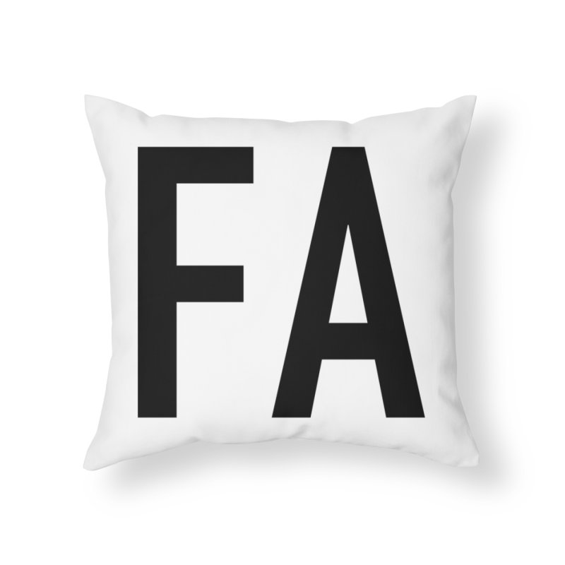 Fart Pillows Black Letters (first half of set) Home Throw Pillow by Taylor's Internet Country Store