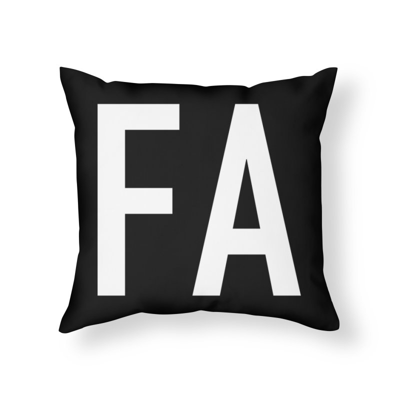 Fart Pillow White Letters (first half of set) Home Throw Pillow by Taylor's Internet Country Store
