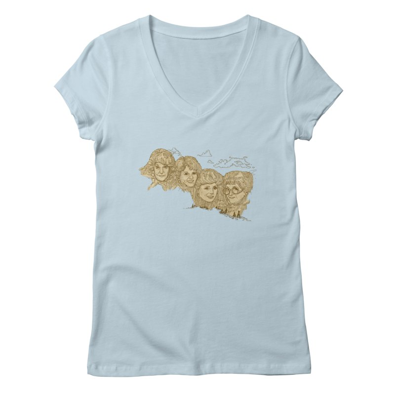 Mt Golden Girls Women's Regular V-Neck by Taylor's Internet Country Store