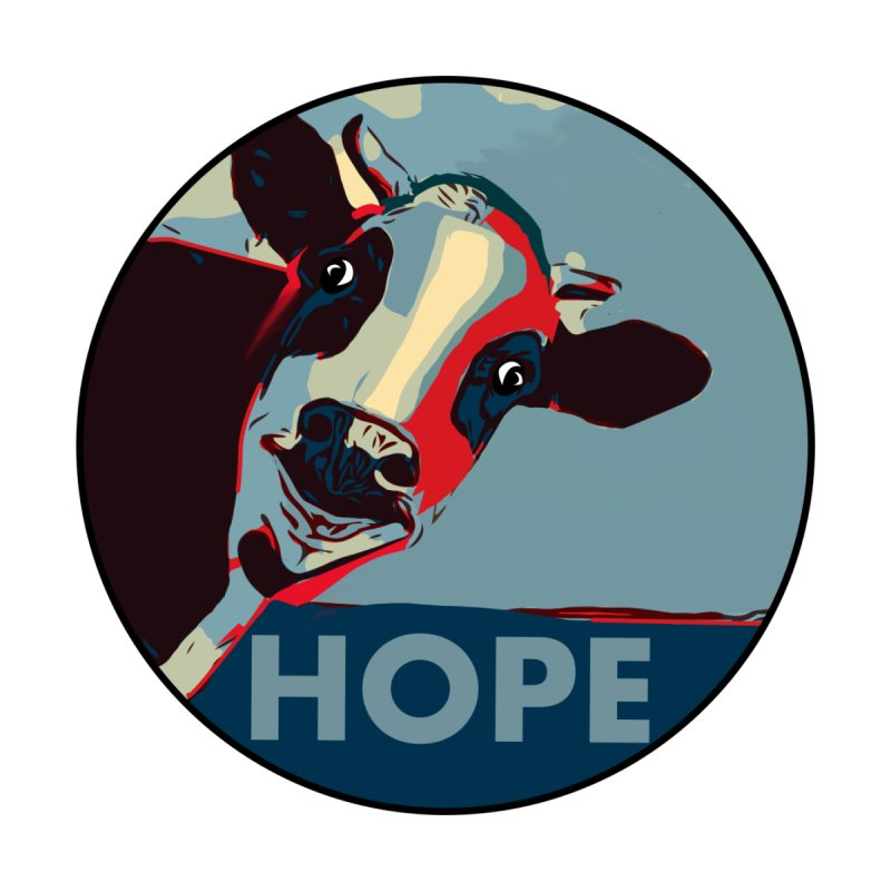 Devin Nunes' Cow — HOPE pastiche by @kim Men's T-Shirt by INTERTHEORY