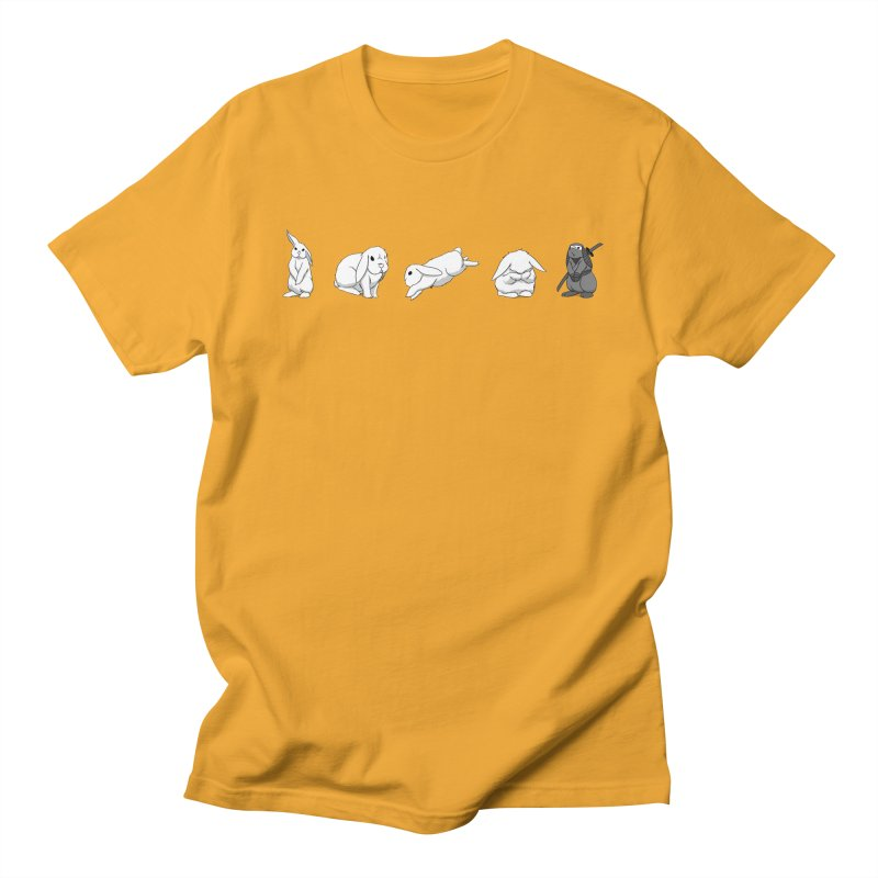Bunnies! Men's Regular T-Shirt by In the Year of the Rabbit Shop