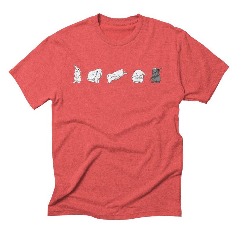 Bunnies! Men's Triblend T-Shirt by In the Year of the Rabbit Shop