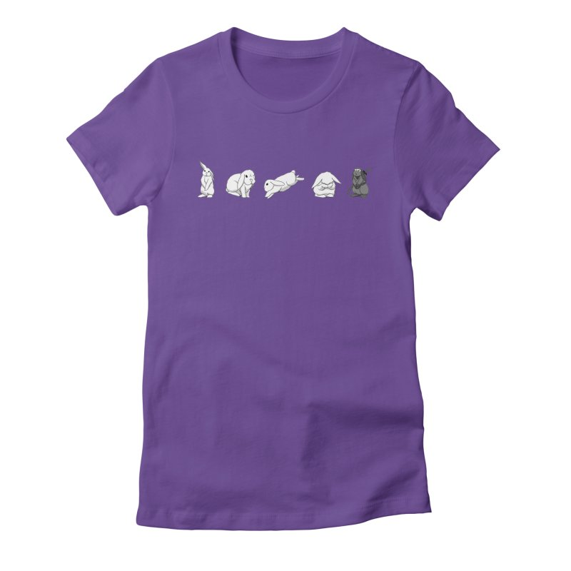Bunnies! Women's Fitted T-Shirt by In the Year of the Rabbit Shop