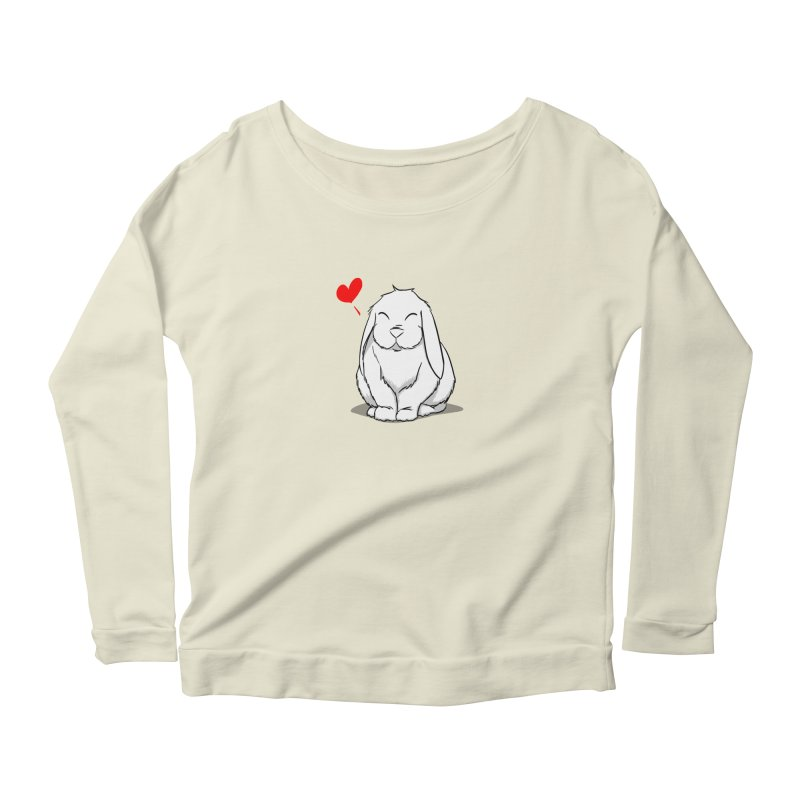 Love Bun Women's Scoop Neck Longsleeve T-Shirt by In the Year of the Rabbit Shop