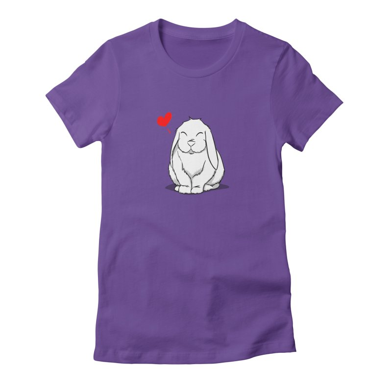 Love Bun Women's Fitted T-Shirt by In the Year of the Rabbit Shop