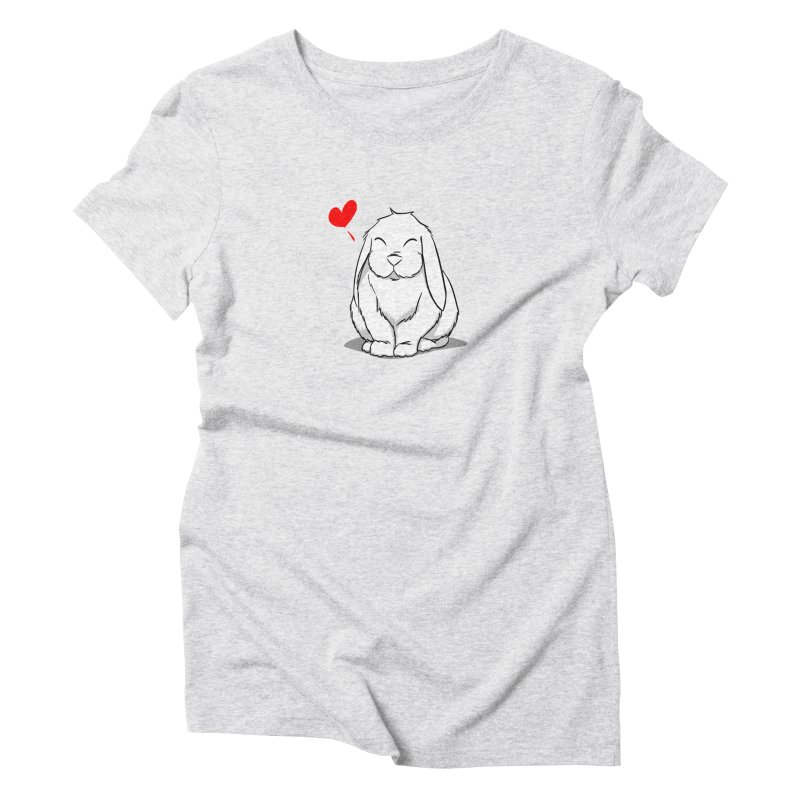 Love Bun Women's Triblend T-Shirt by In the Year of the Rabbit Shop