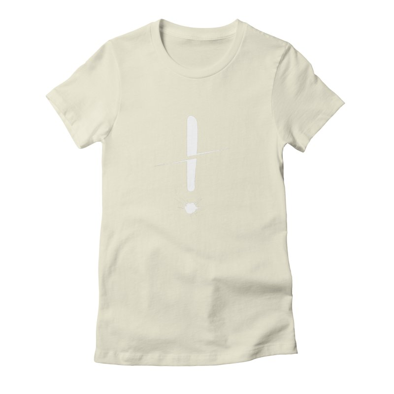Surprise! (White) Women's Fitted T-Shirt by In the Year of the Rabbit Shop