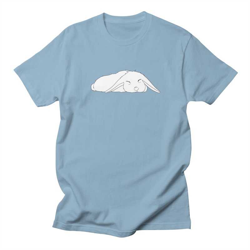 Sleepy Bunny in Men's Regular T-Shirt Light Blue by In the Year of the Rabbit Shop