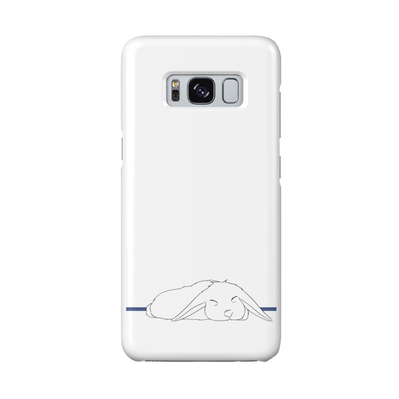 Sleepy Bunny (horizontal) in Galaxy S8 Phone Case Slim by In the Year of the Rabbit Shop