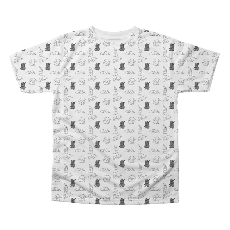 Bunnies Everywhere! in Men's Regular All Over Print by In the Year of the Rabbit Shop
