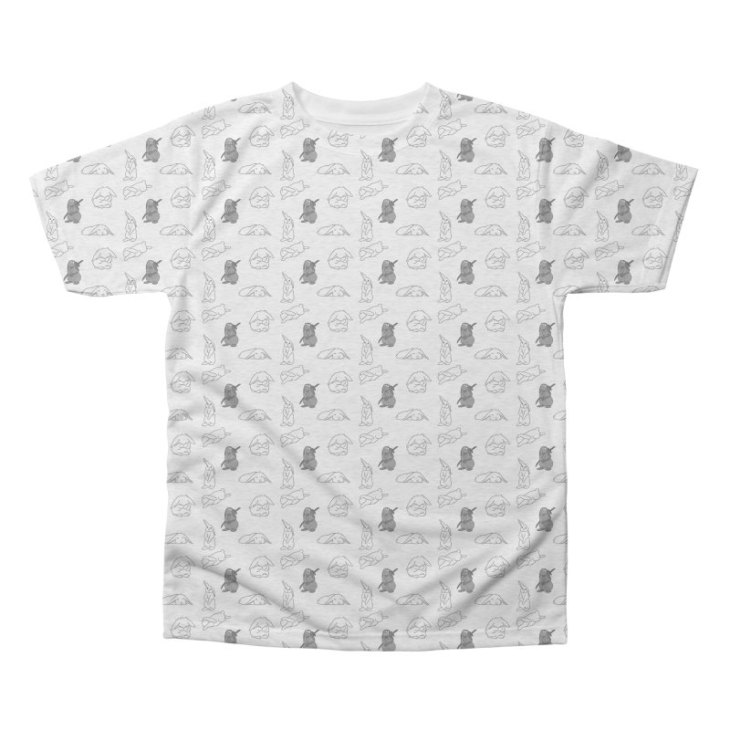 Bunnies Everywhere! Men's Triblend All Over Print by In the Year of the Rabbit Shop