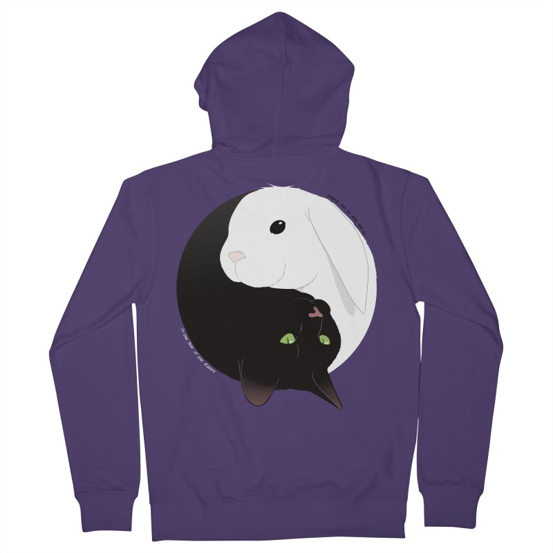 Balance Women's French Terry Zip-Up Hoody by In the Year of the Rabbit Shop