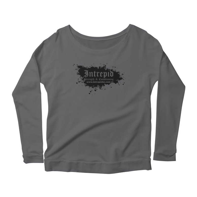Intrepid Splatter Women's Scoop Neck Longsleeve T-Shirt by Intrepid CF Warwick's Artist Shop