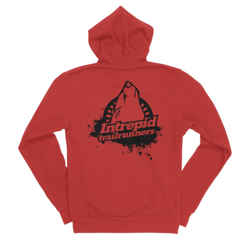 Intrepid Trail Runner Men's Sponge Fleece Zip-Up Hoody by intrepidcfwarwick's Artist Shop