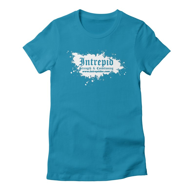 Splatter Women's Fitted T-Shirt by Intrepid CF Warwick's Artist Shop