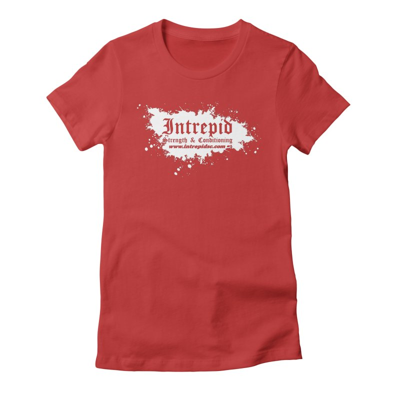 Splatter Women's Fitted T-Shirt by Intrepid CF Warwick's Artist Shop