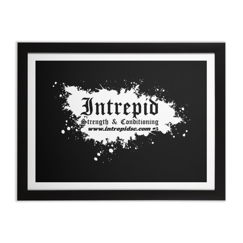Splatter Home Framed Fine Art Print by Intrepid CF Warwick's Artist Shop