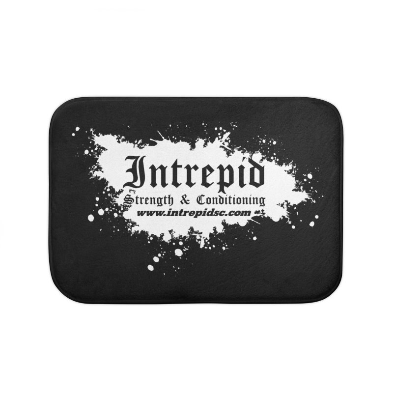 Splatter Home Bath Mat by Intrepid CF Warwick's Artist Shop