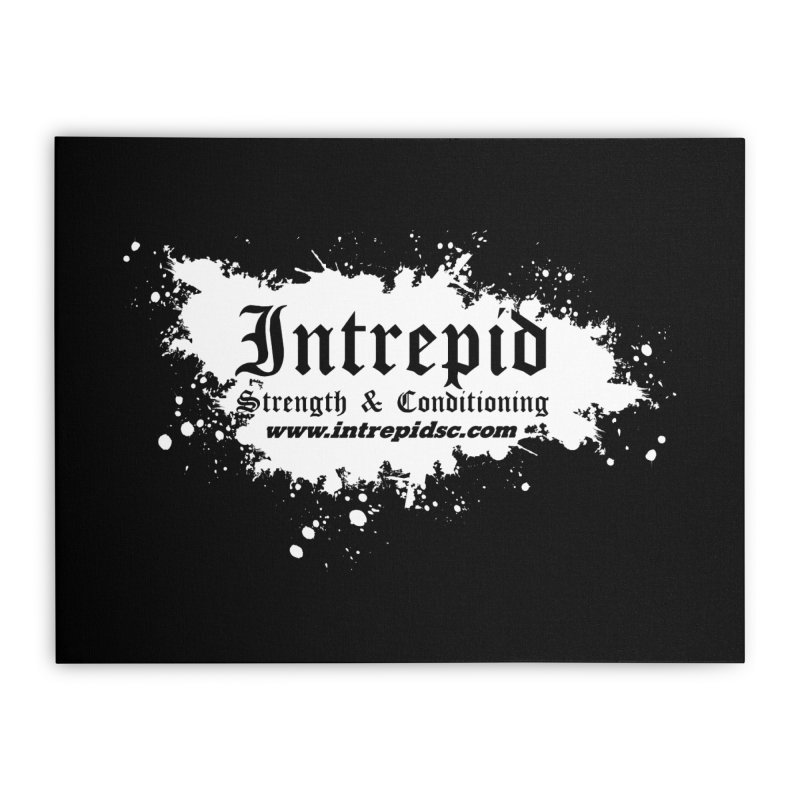 Splatter Home Stretched Canvas by Intrepid CF Warwick's Artist Shop