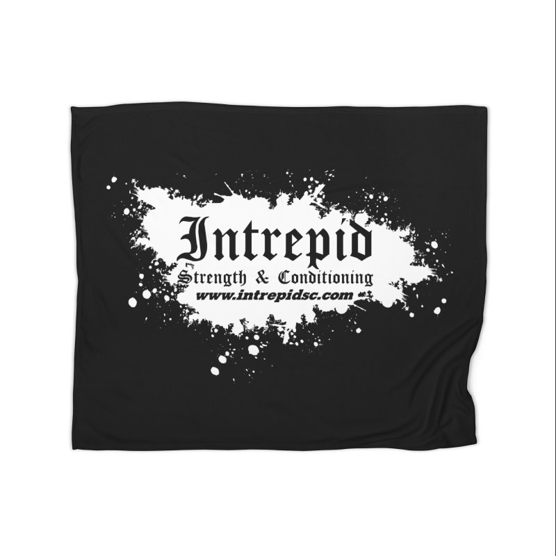 Splatter Home Fleece Blanket Blanket by Intrepid CF Warwick's Artist Shop