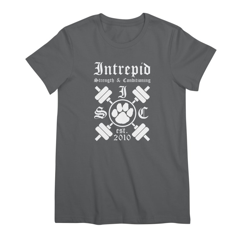 Intrepid with barbells Women's T-Shirt by Intrepid CF Warwick's Artist Shop