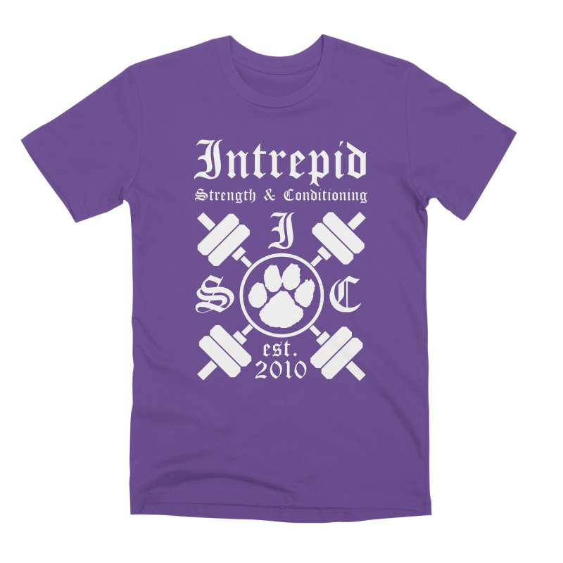 Intrepid with barbells Men's Premium T-Shirt by intrepidcfwarwick's Artist Shop