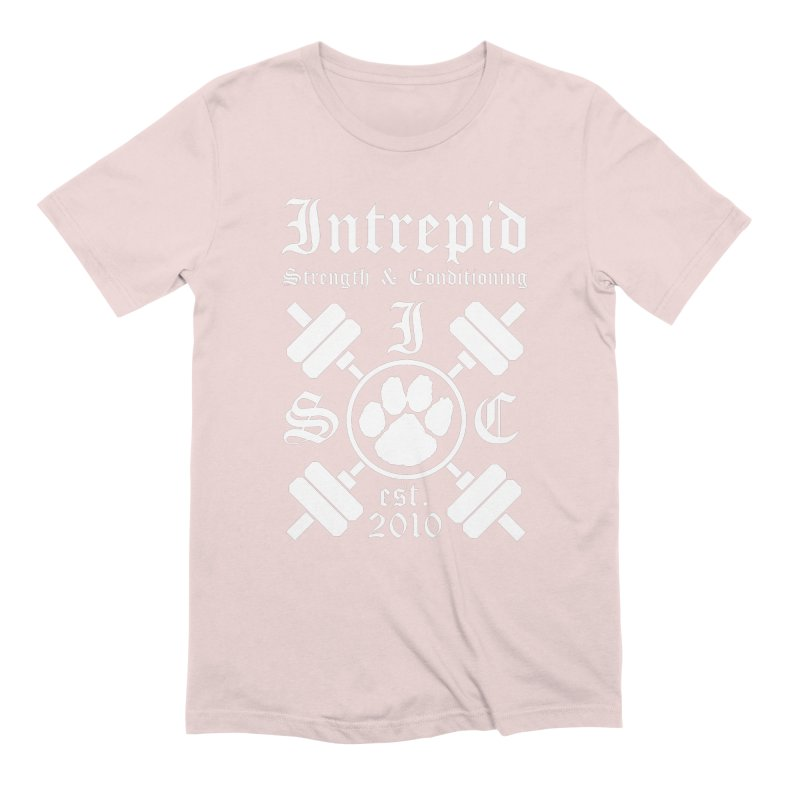 Intrepid with barbells Men's Extra Soft T-Shirt by intrepidcfwarwick's Artist Shop