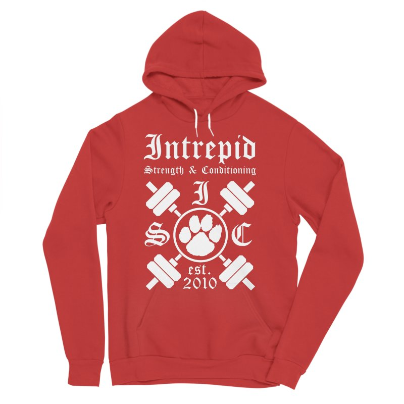 Intrepid with barbells Men's Sponge Fleece Pullover Hoody by Intrepid CF Warwick's Artist Shop