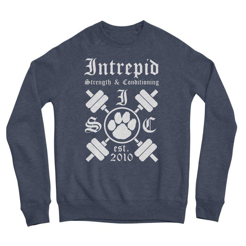 Intrepid with barbells Women's Sponge Fleece Sweatshirt by Intrepid CF Warwick's Artist Shop