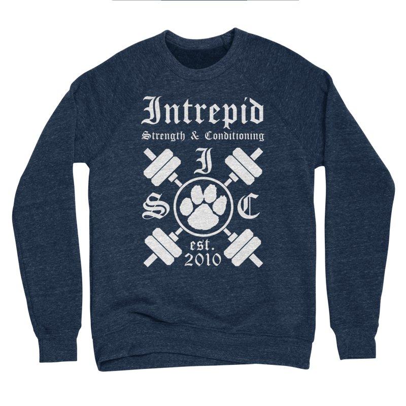Intrepid with barbells Men's Sponge Fleece Sweatshirt by Intrepid CF Warwick's Artist Shop
