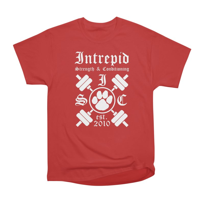 Intrepid with barbells Women's Heavyweight Unisex T-Shirt by intrepidcfwarwick's Artist Shop