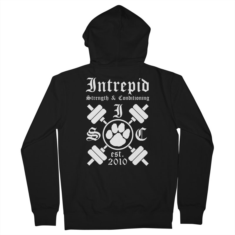 Intrepid with barbells Women's French Terry Zip-Up Hoody by Intrepid CF Warwick's Artist Shop
