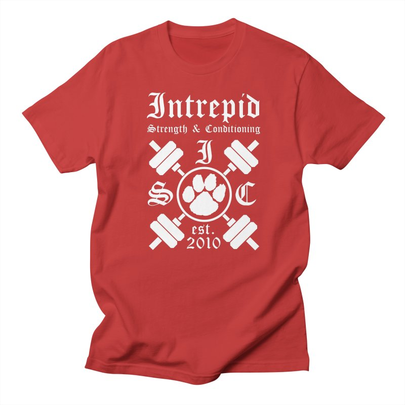 Intrepid with barbells Women's Regular Unisex T-Shirt by Intrepid CF Warwick's Artist Shop