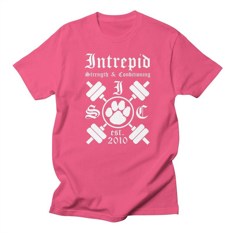 Intrepid with barbells Women's Regular Unisex T-Shirt by Intrepid CF Warwick's Artist Shop