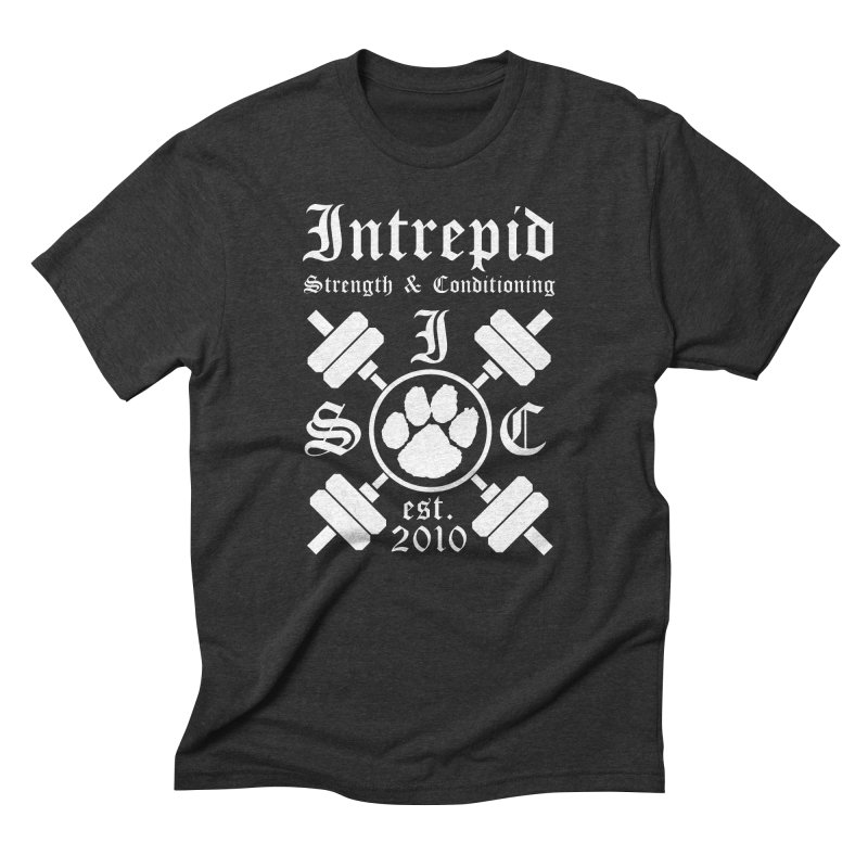 Intrepid with barbells Men's Triblend T-Shirt by Intrepid CF Warwick's Artist Shop