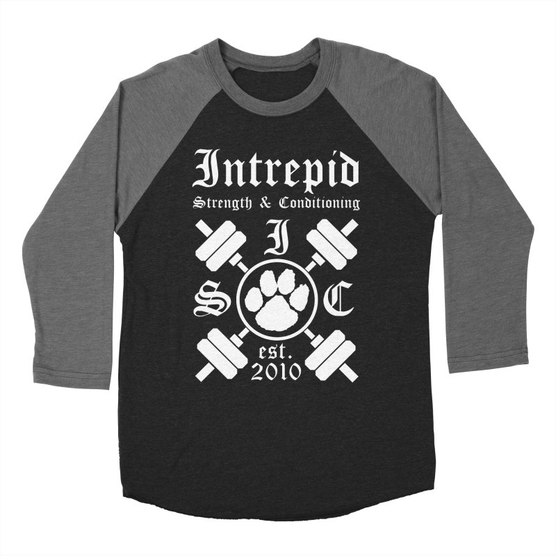 Intrepid with barbells Women's Baseball Triblend Longsleeve T-Shirt by Intrepid CF Warwick's Artist Shop