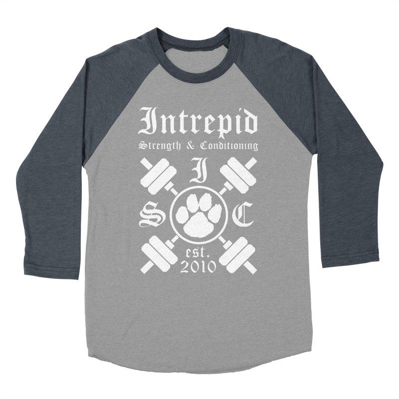 Intrepid with barbells Men's Baseball Triblend Longsleeve T-Shirt by intrepidcfwarwick's Artist Shop