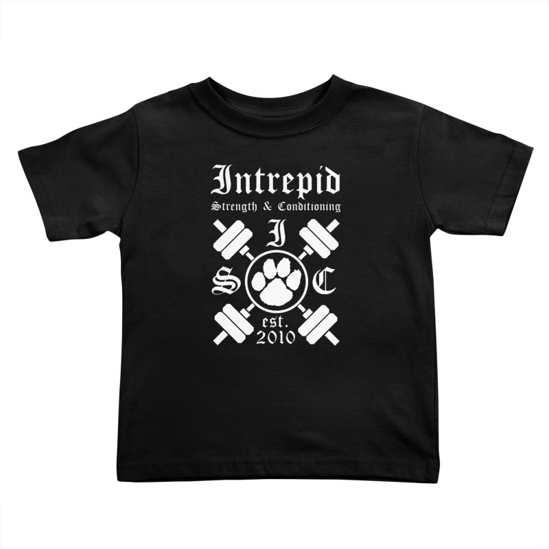 Intrepid with barbells Kids Toddler T-Shirt by Intrepid CF Warwick's Artist Shop