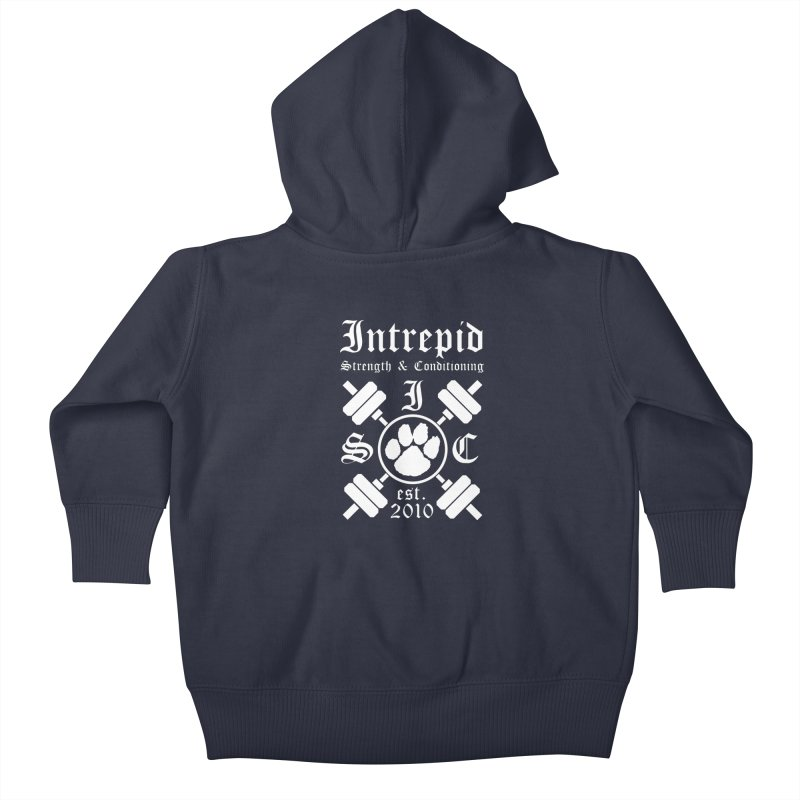Intrepid with barbells Kids Baby Zip-Up Hoody by intrepidcfwarwick's Artist Shop