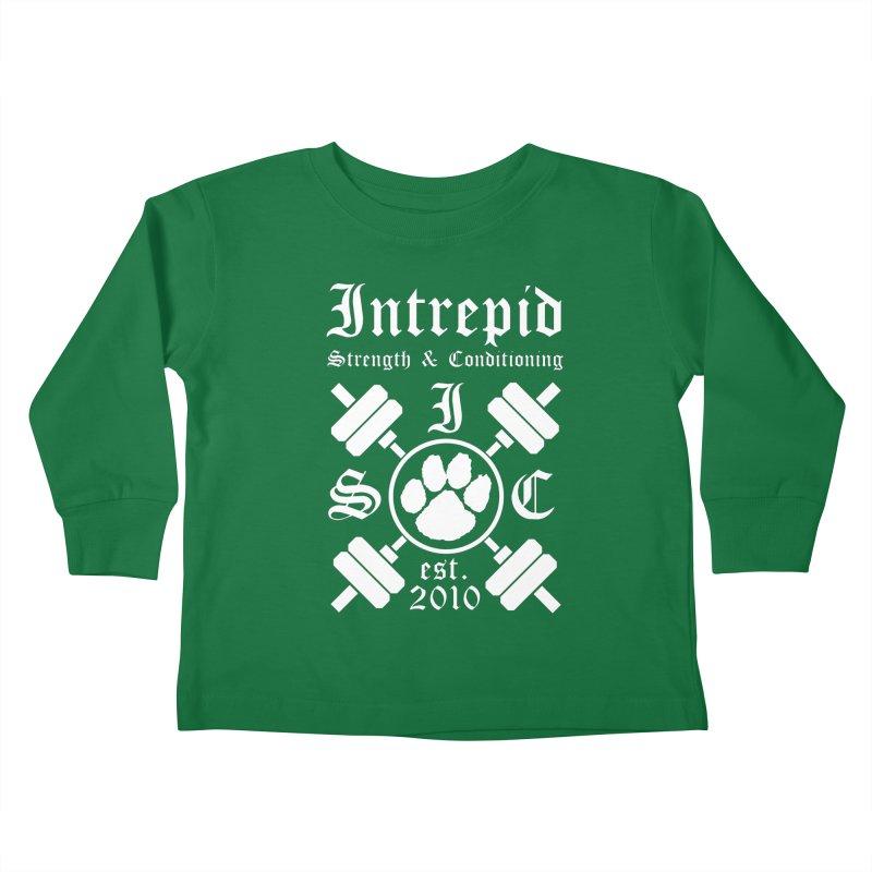 Intrepid with barbells Kids Toddler Longsleeve T-Shirt by intrepidcfwarwick's Artist Shop