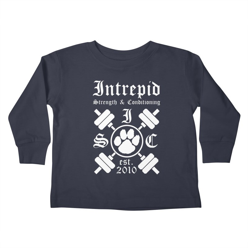 Intrepid with barbells Kids Toddler Longsleeve T-Shirt by Intrepid CF Warwick's Artist Shop