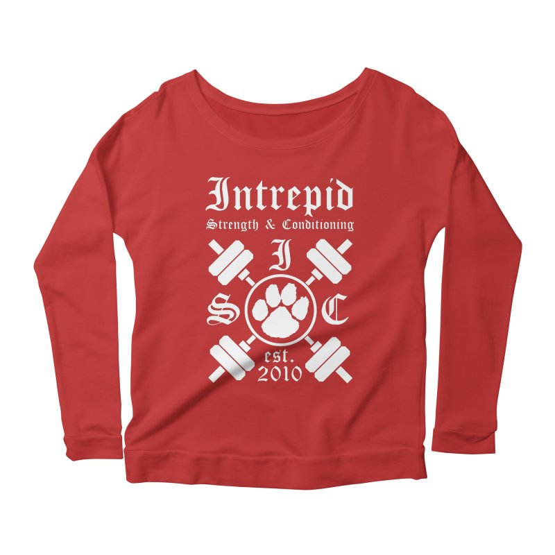 Intrepid with barbells Women's Scoop Neck Longsleeve T-Shirt by intrepidcfwarwick's Artist Shop